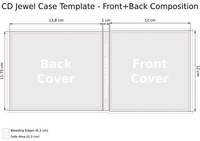 Cd Template Jewel Case Front Back Composition Template
