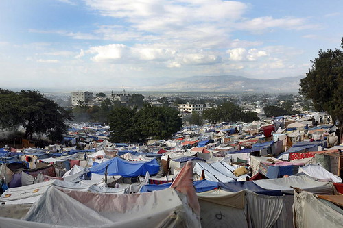 Estimated 50,000 Haitians Set Up Camp on Port-au-Prince Golf Grounds | by United Nations Photo