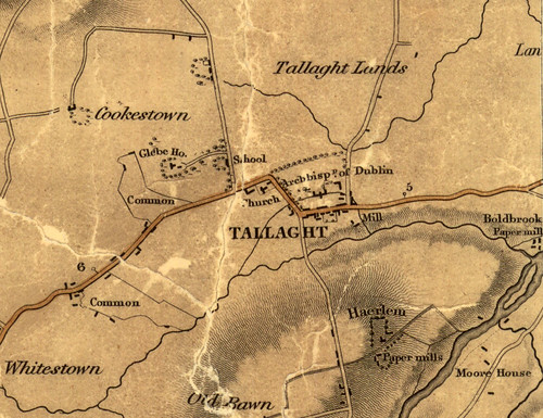Duncan's Map of Tallaght Village, 1821 | by South Dublin Libraries