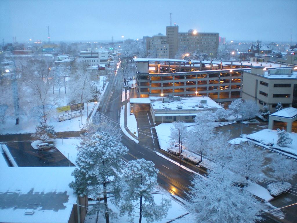 Shreveport Snow Fairfield Near Olive By Michael Phillips
