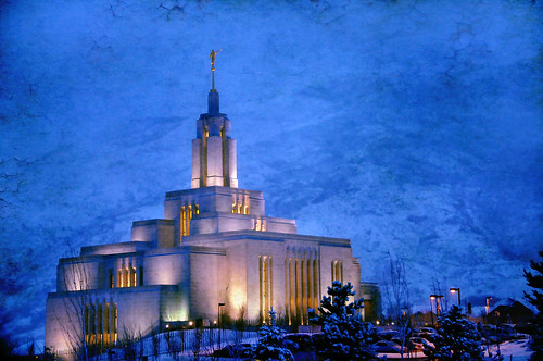 Draper Lds Temple During Snow Storm 3 5 10 Texture Flickr