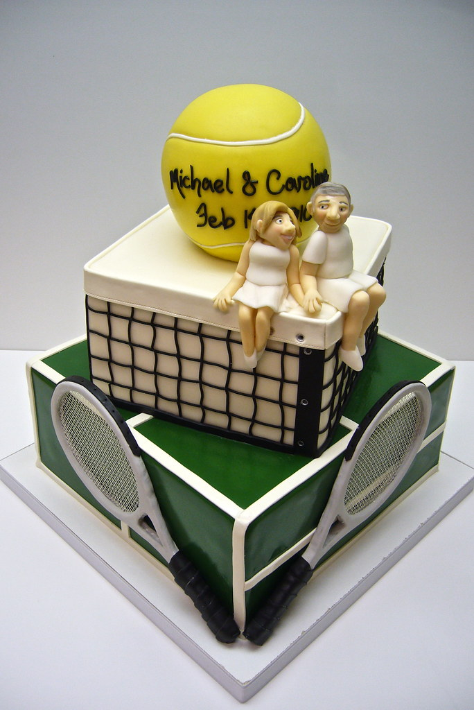 tennis inspired wedding cakes tennis wedding cake the and groom met 20794