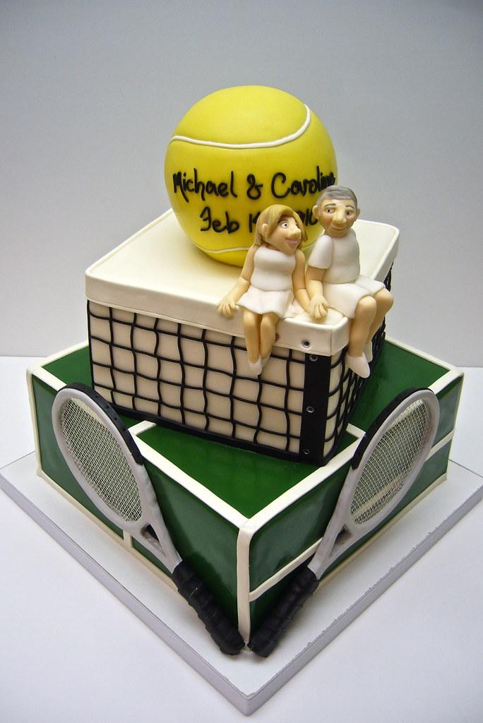 Tennis Wedding Cake Topper
