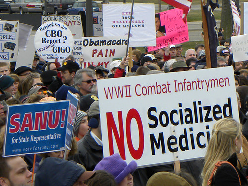 Tea Party people for Sanu and against the government providing medical care to veterans | by Fibonacci Blue