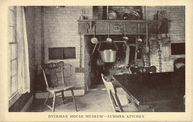 Dyckman Farmhouse Summer Kitchen Postcard View 1916