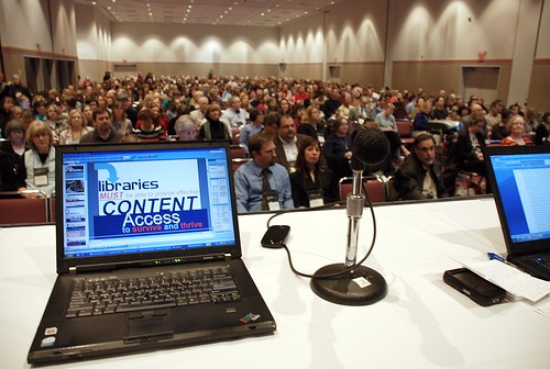 The Audience at the LITA Top Tech Trends Panel | by libraryman