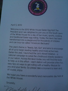 Easter Egg Roll official letter | by jen_rab