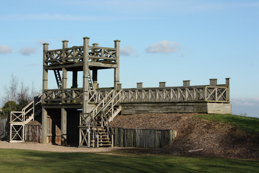 The lunt roman fort flickr for Old wooden forts