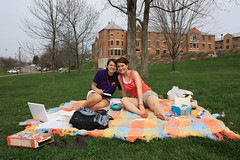 Christyn and friend on picnicblanket | by FranciscanUniversity