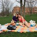 Christyn and friend on picnicblanket