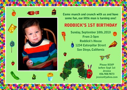 The very hungry caterpillar eric carle custom birthday in flickr the very hungry caterpillar eric carle custom birthday invitation by designdreametsy filmwisefo
