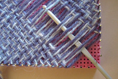 Hazel's Adjust O' Peg Loom review picture | by knittingand