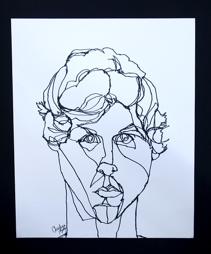 Contour Drawing And Line Drawing : Continuous line self portrait christian taylor flickr