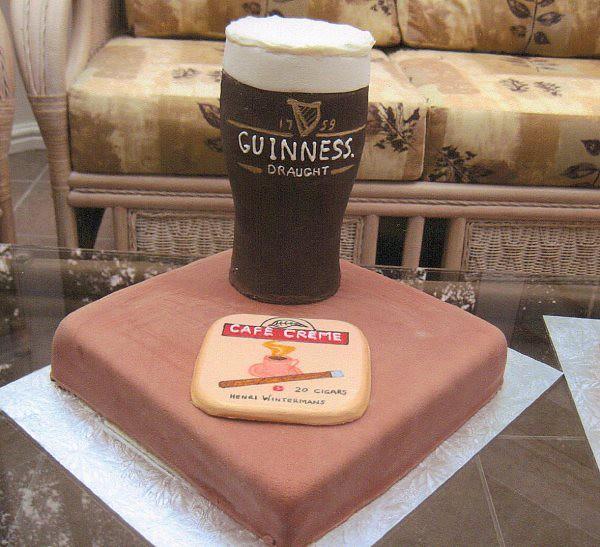 Guinness novelty birthday Cake Square sponge cake ...