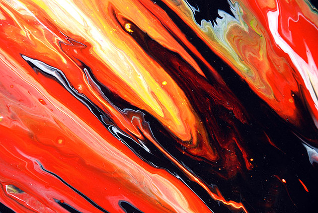 Black Amp Orange Painting A Close Up From One Of My