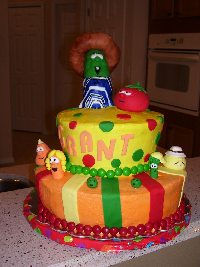 Veggietales Cake 1 This Was Done For My Sons 2nd