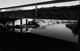 Creek and Bridge, Craig, NE, January, 1987