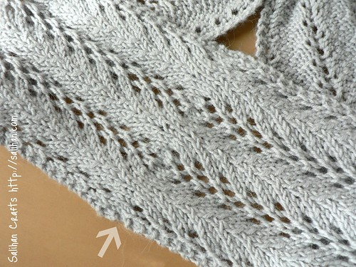 Lace Keyhole Scarf (grafted join) | by :Salihan