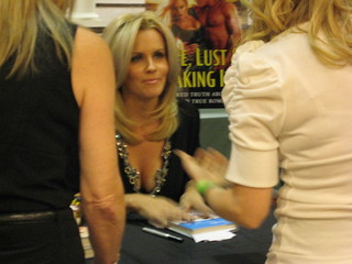 Jenny McCarthy signing her LOVE, LUST & FAKING IT | by freshfiction