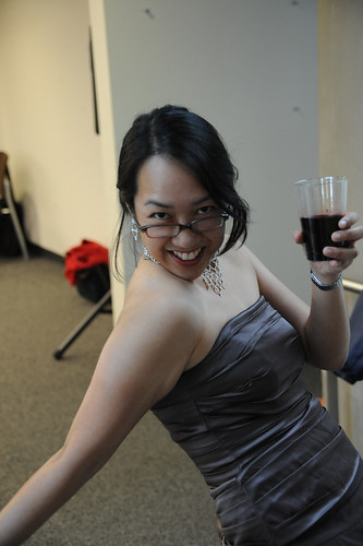 Librarian, Ellie Tayag, striking a pose at the 2009 Celebration of Faculty Accomplishments | by California State University Channel Islands