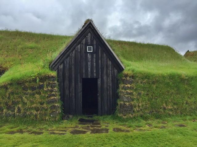 Casa césped en Keldur (Islandia)