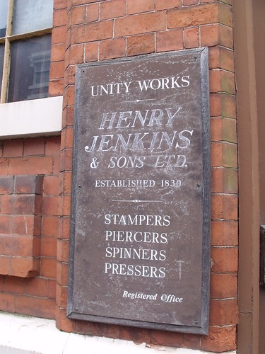 Unity Works - 36 - 46 Vittoria Street - Jewellery Quarter, Birmingham - Henry Jenkins & Sons Ltd - sign | by ell brown
