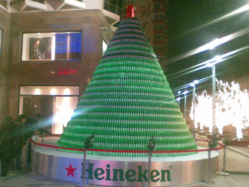 heineken tree of bottles at the place heineken c flickr