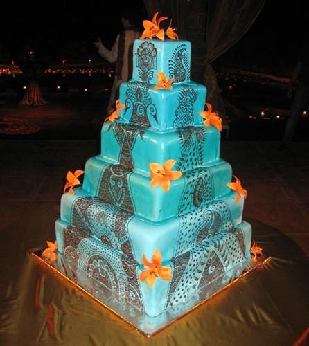 Mehandi Decorated Wedding Cake