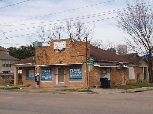 Houston Texas Old Historic Third Ward Near Downtown Roads ...