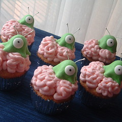 Brain Slug Cupcakes! | by Alicia Policia aka The Small Cat Club