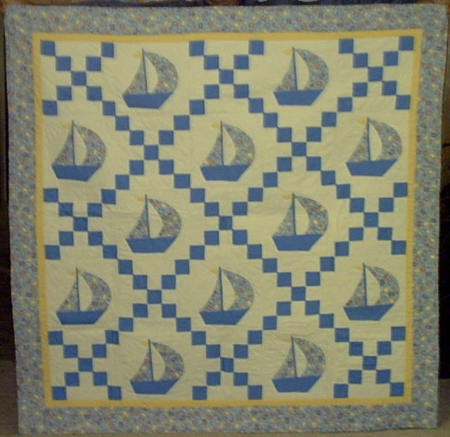 Single Irish Chain Baby Quilt This quilt is made using a s? Flickr