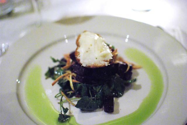 Roasted Beets, sliced baby artichokes, watercress & talegg… | Flickr