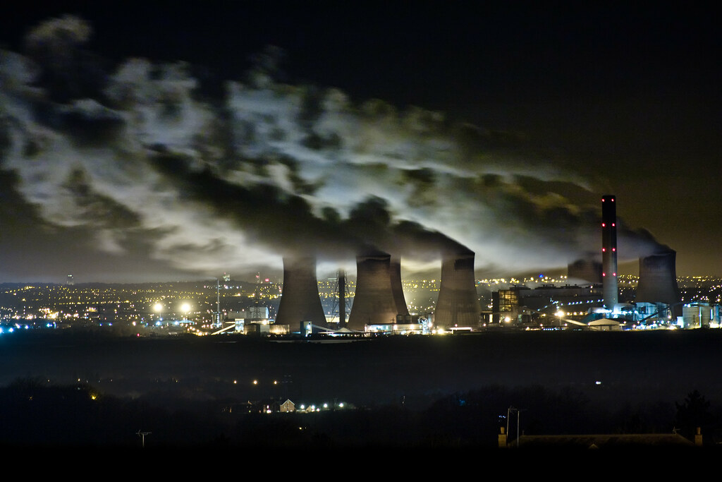 fiddlers ferry power station at night this was taken