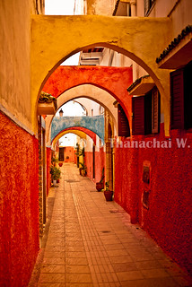 Colorful passageway, the Old Medina - Rabat, Morocco | by Beum Gallery