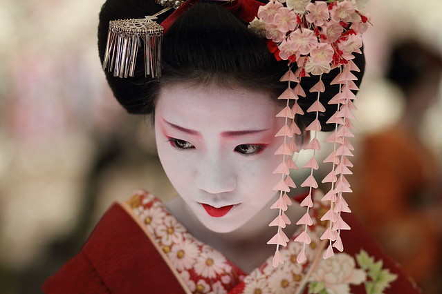 Flower People Portrait Face Japanese Beauty