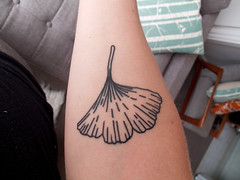 ginkgo tattoo - from my perspective | by birds & trees
