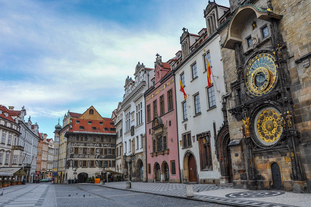 Old Town Square And The Prague Astronomical Clock The