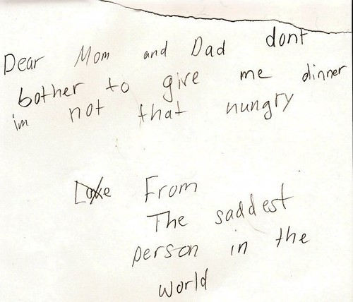 Note from the saddest person in the world | by passiveaggressivenotes