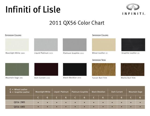 2011 Infiniti Qx56 Color Chart Infiniti Of Lisle Is