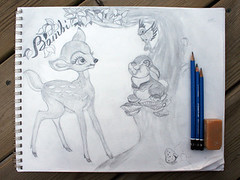 sketched bambi | by duckyhouse