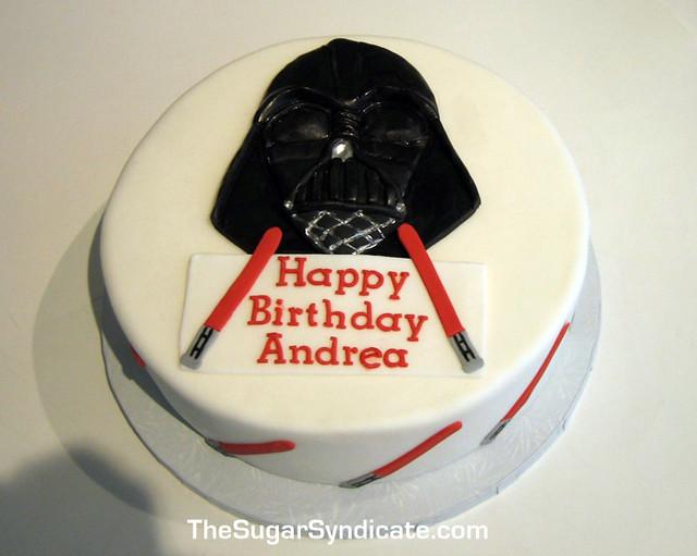 Darth Vader Birthday Cake The Sugar Syndicate Custom Cak Flickr
