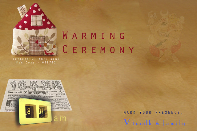 H'warming | An e-card for Vinoth's house warming ceremony...… | Flickr