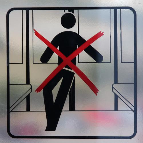 Caution Automatic Doors Do Not Lean Against Door Flickr