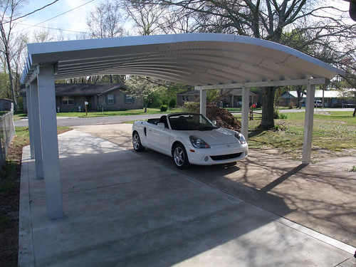 2 Car Metal Carport Flat : Steelmaster metal two car carport