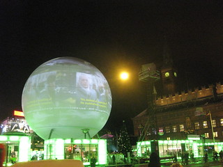 VIDEO INSTALLATION OF THE CRITICAL RUN / CITY HALL SQUARE COPENHAGEN | by Thierry Geoffroy / Colonel