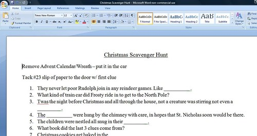 Christmas scavenger hunt screen shot - 12/22/09 | by justmalia