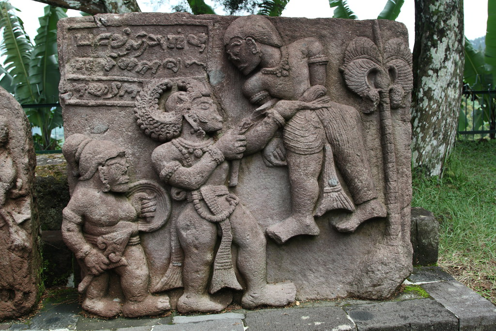 Stone carvings at candi sukuh temple indonesia rowan
