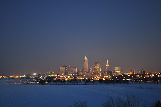 downtown Cleveland at twilight | by pacificpelican