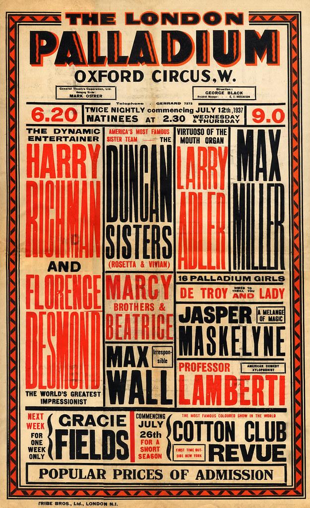 Vaudeville Poster July 12, 1937 | Vaudeville Poster July 12,… | Flickr