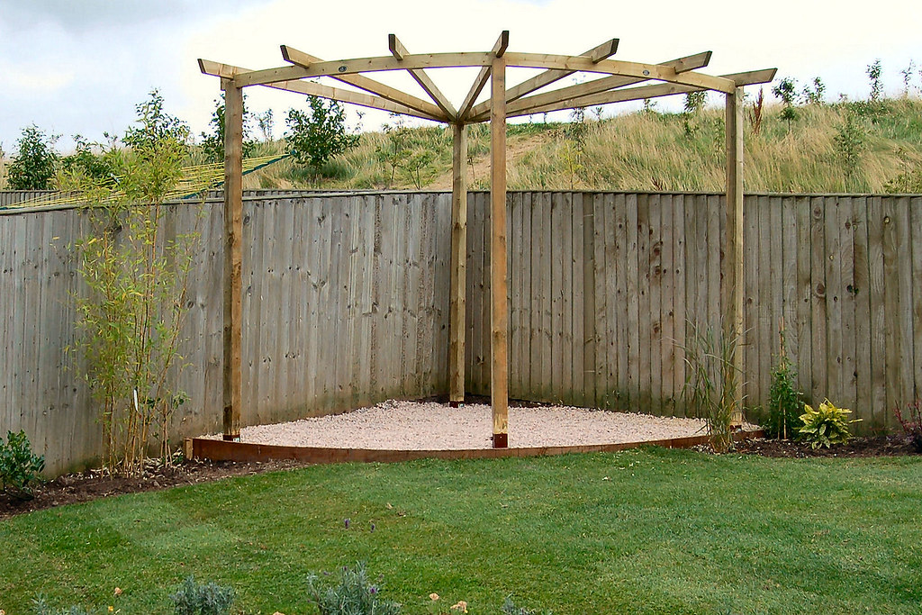 Corner pergola 2 a corner pergola from a kit a useful for Garden design kits